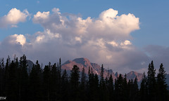 Flattop (MikeWeinhold) Tags: flattop rockymountainnationalpark therockies nymphlake clouds mountains trees magichour 6d 70200mm