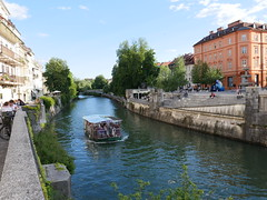 The canals thru Ljubljana