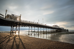 Worthing Early Morning (o RATMAN o) Tags: worthing worthingpier pier seafront seaside tide sunrise morning clouds shadows westsussex quiet peace sand rocks pebbles seaweed sun rise light