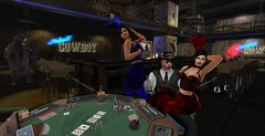 Gambler - Know when to hold 'em... (Karisima Stein) Tags: secondlife poker saloon girls cowboy