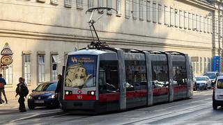 #WienerLinien   123 Siemens ULF A1   44-es villamos   ➜ Ottakring, Maroltingergasse