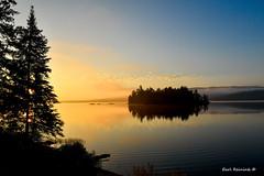 Sunrise - Lake of Two Rivers (Earl Reinink) Tags: water lake sunrise park algonquinprovincialpark earl reinink earlreinink utddouedia island trees