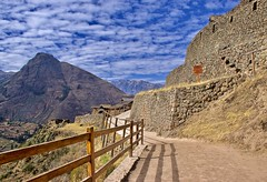 The path to enlightenment ... (somabiswas) Tags: piscac inca ruins pathway road nature peru mountains saariysqualitypictures fence d5600