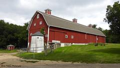 Red Barn at Brunner Family Farm (GerdaKettner) Tags: carpentersville barns farmstead farming barn midwest ruralillinois illinois forestpreserve kanecountyforestpreserve brunnerfamilyforestpreserve brunnerfamilyfarm redbarn