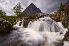 Buachaille Etive Mor in Glencoe in the highlands of Scotland (GorkaZarate) Tags: buachaille etive mor glencoe waterfall water cascada mountain travel alavavision