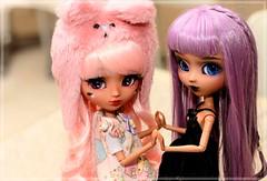 Cute & Goth (Pliash) Tags: doll cute kawaii goth pastel colors asian fashion dolls pullip groove family kit mio make it own mocha gothic lolita