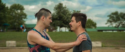 "Wesley Norman and Justin Norman in ""Buddies Don't Kiss"""