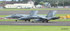 188749 and 188750 Royal Canadian Air Force McDonell Douglas CF-188A Hornet,Glasgow Prestwick 20/8/17 (BS Images.) Tags: canada canadianairforce military fighter hornet cf188a f18a f18 rcaf airport aircraft aviation ayrshire egpk glasgowprestwick gpa prestwick prestwickairport pik southayrshire scotland