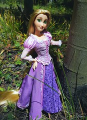 Rapunzel (ozthegreatandpowerful) Tags: disney store limited edition designer custom ooak oneofakind tangled rapunzel doll design embroidery pink purple heliotrope mother gothel dolls