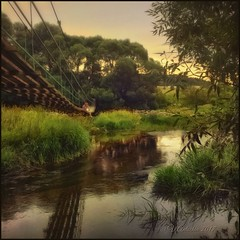 Meeting on the bridge. (odinvadim) Tags: mytravelgram paintfx textured textures iphone editmaster travel iphoneography sunset evening iphoneonly church painterly artist snapseed landscape photofx specialist iphoneart graphic painterlymobileart