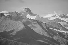 Gulkana Glacier Peaks (Rebeak) Tags: alaska geology gulkanaglacier glaciers peaks mountains snow bw rebeak