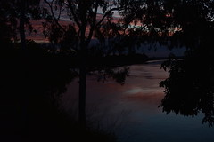 Vibrant reflections (Images by Jeff - from the sea) Tags: sunset clouds water gumtrees reflections redsunset bluesky bundaberg queensland australia nikon d7200 tamronsp2470mmf28divcusd twilight dusk redsky brilliant intense vibrant vivid 500v20f 7dwf topf25