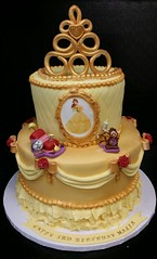 Beauty and the Beast cake (dragosisters) Tags: disney dress gold yellow belle cake beautyandthebeast