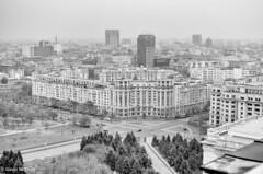 Bucharest, Romania (gavin.mccrory) Tags: romania bucharest architecture skyline bw black white nikon d5100 35mm cities urban