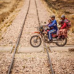 Family bike. (yeahwotever) Tags: cusco peru puno train