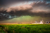 May 15, 2017 Packard, Iowa (lovriensam) Tags: thunderstorm shelf cloud clouds sky severe weather hail storm stormchasing stormchase landscape nikon 20mm d610 farm elevator cloudscape iowa wideangle sunset