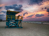 Storm Approaching Miami (` Toshio ') Tags: toshio miami miamibeach beach lifeguardtower lifeguard woman sand girl clouds sunset florida america eastcoast atlantic storm stormclouds iphone coast waves
