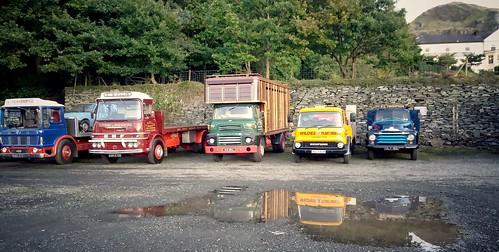 Lorries at Llanberis.