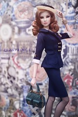 🚢 Boater Ensemble 💙✨ (️ Zezaprince ️) Tags: international convention 2017 vegas las orleans toys integrity abbey dollton ifdc wild feeling zezaprince doll royalty fashion diefendorf giselle ensemble boater