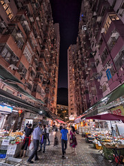 Go ahead (mikemikecat) Tags: quarrybay hongkong nightscapes estates nostalgia house mikemikecat architecture stacked building colorful housing pattern 屋邨 抽象 建築 建築物 城市 天際線 戶外 block hong kong cityscapes street nightview night 夜景 香港 路 evening 建築大樓 twilight vintage nightscape 建築結構 基礎建設 market village 廣東道 laowa 75mm olympusomd 人 neonlights neon neonsign 攤檔 商店 夜市 snapshot