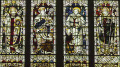 Warwick, St Mary's church, Window detail (Jules & Jenny) Tags: stainedglasswindow warwick stmaryschurch kempe