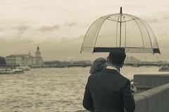 The first day ... a rainy day - Первый день... дождливый день (Valery Parshin) Tags: russia saintpetersburg two sepia river neva stpetersburg canoneos600d tamronsp60mmf2diiimacrog005 blackandwhite