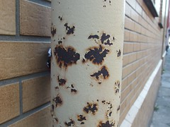 Found Rust Face (mkorsakov) Tags: dortmund nordstadt hafen rost rust fallrohr foundface