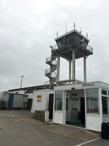 Alderney Airport and control tower