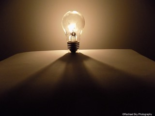Light Bulb and Candle Light