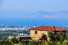 With The Best View (Tassos Giannouris) Tags: kos greece best view sea seascape house green island home roof zoom garden rocks blue sky building tree mountain
