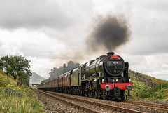"""Penultimate Scot"" Royal Scot 46115 'Scots Guardsman' (Liam60009) Tags: railway rail railways railtour steam steamlocomotive steamtrain steaming exhaust clag exlms lms br british britishrailways green bleamoor moor 46115 scotsguardsman royalscot royal scot dalesman thedalesman excursion sony a7rii 2870"