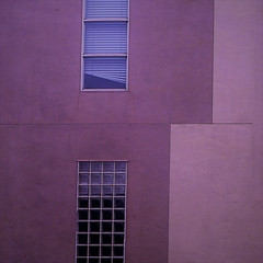 maybe they own a cat (msdonnalee) Tags: architecturaldetail colorfx window windowblinds geometry mauve geometriegeometry magicunicornverybest
