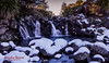 Snowy Waterfall (Anneka Barritt Photography NZ) Tags: landscapes noedit rocks ruapehu sunset tongariro canon6d canonl1740 mountain nationalpark oneshot snow snowonrocks t tussock waterfall