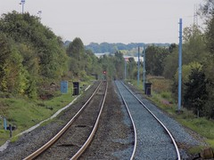 Stanchions heading towards Mid Cannock (simonjohn4) Tags: stanchions midcannock cannock electrification railway chaseline