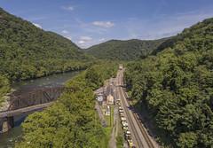 Thurman West Virginia (player_pleasure) Tags: thurman westvirginia trainstation trains mountains tracks trees mavicpro drone ariel tourism