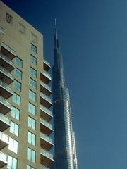 dubai towards the sky (kexi) Tags: dubai sky blue buildings tall towardsthesky skyscrapers samsung wb690 september 2016 architecture vertical instantfave tower burjkhalifa