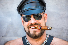 Folsom Street Fair (Thomas Hawk) Tags: america bayarea fsf2016 folsomstreet folsomstreetfair folsomstreetfair2016 soma sanfrancisco usa unitedstates unitedstatesofamerica cigar leather smoking california us fav10 fav25 fav50