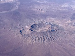 Crater in The Desert (eriagn) Tags: earthytones iphone travel traveller aerialview flight ngairehart eriagn arid southernafrica northerncape geology aerial crater desert namibia africa
