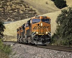 Traveling Light (lennycarl08) Tags: burlingtonnorthernsantafe burlingtonnorthernsantaferailroad bnsf es44c4 ge locomotive trains train railroad california stocktonsub franklincanyon