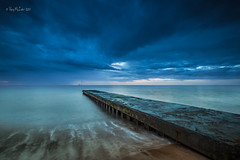 IMG_0449- Pier Perspective (Ray McIver Photography) Tags: blythlanding blythgroyne crespuscular godrays le cloudy hightide sunrise