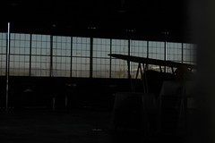 Great Park 15 (hopedorman) Tags: greatpark irvine hangar plane dark window
