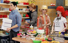 Season6: Eps20 - Sin in the City 3 (photo story) (APPark) Tags: dolls dioramas 16scale miniatures rement cake cupcakes cookies sweets kitchen baking sininthecity photostory fashionroyalty nuface nufantasy homme yuri kumi lukas