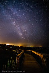A PATH TO THE STARS (lastminutephoto) Tags: larrymammone monterey california asilomar beach milky way stars night photography long exposure