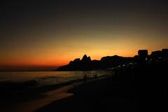 #5 - No clouds, just light (mathsbez) Tags: ipanema riodejaneiro brasil sunset beach praia colors cores sky beauty nature lazer waves coast costa shore