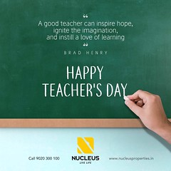 They guide us.. They support us..  They inspire us..  They teach us.. Today is the day to thank them and say #HappyTeachersDay!  #Kerala #Kochi #India #LuxuryHomes #Architecture #Home #Festival #TeachersDay #Elegance #Elegant #Festival #Beauty #Beautiful (nucleusproperties) Tags: beautiful life kochi elegant style trivandrum kerala realestate celebration lifestyle india luxury comfort apartment nature happyteachersday luxuryhomes architecture interior gorgeous design elegance beauty teachersday festival exquisite view atmosphere home
