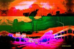 D.C. Highway (Stephenie DeKouadio) Tags: canon art artistic artwork hypnotique landscape landscapeurban abstract abstractart washington washingtondc dc dcurban outdoor highway colorful