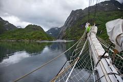 Trollfjorden, Vesterålen, Norway (Ingunn Eriksen) Tags: trollfjorden vesterålen norway nordland hadsel mountain christianradich tallship fjord coastline nikon nikond750
