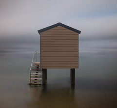 Beach Huts (3 of 4) (selvagedavid38) Tags: nd10 neutral desity beach hut water sea ocean time tide sky relax tranquil river essex heybridge long exposure filter