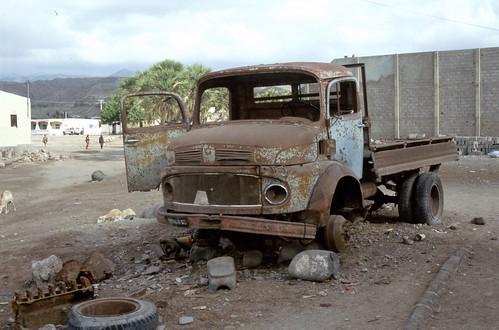 abandoned truck in Tadjourah, Djibouti