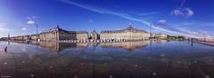Panorama Bordeaux (YᗩSᗰIᘉᗴ HᗴᘉS +8 000 000 thx❀) Tags: bordeaux placedelabourse france miroirdeau hensyasmine sky panorama